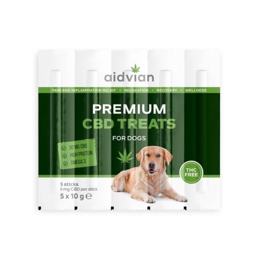 AIDVIAN Premium CBD Dog Treats 30 mg 50 g (5db)