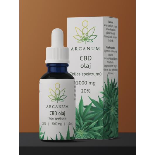 ARCANUM 2000 mg CBD olaj, 10 ml, 20%