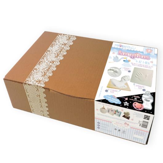Lacy Box - hatalmas baba mama ajándék - lenyomat készítők és ajándékok - kézszobor, lábszobor
