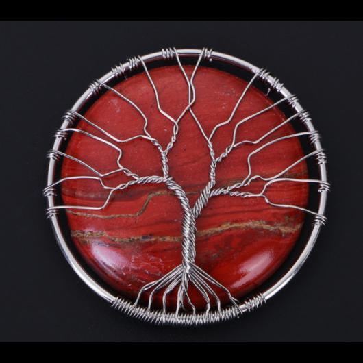 Vörös jáspis Életfa Talizmán