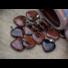 Kép 4/7 - Barna obszidián szív ásvány medál